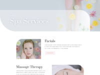 Say spa services page
