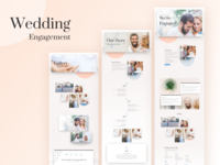 Wedding Engagement Template Design for Divi