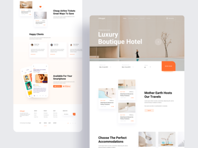Boutique Hotel Landing Page