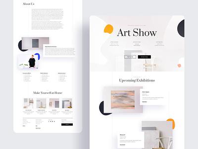 Art Gallery - Sneak Peek wordpress website product design design typography grid divi elegant themes landing page illustration template ux ui web design minimalistic interface interaction gallery artist art