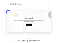 Art gallery events page