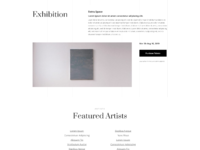 Art gallery event page