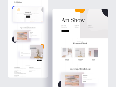 Art Gallery Template Design for Divi