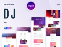 DJ Template Design for Divi