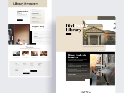 Library Template Design for Divi
