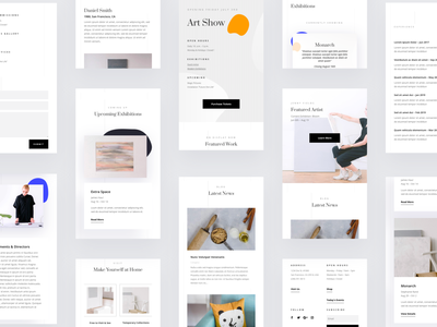 Art Gallery - Mobile Pages wordpress website product design design typography grid divi elegant themes landing page illustration template ux ui web design minimalistic interface interaction gallery artist art