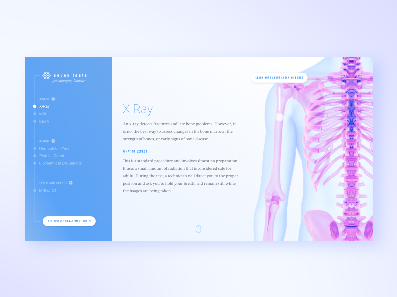 7 Tests site screens ui ux medical medicine
