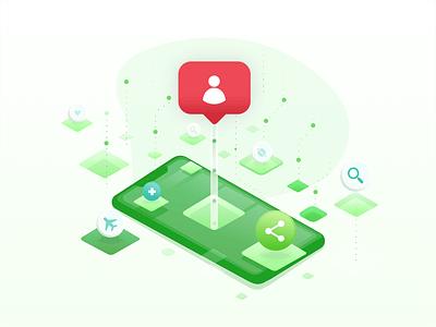User Behavior branding interface ui visual illustration