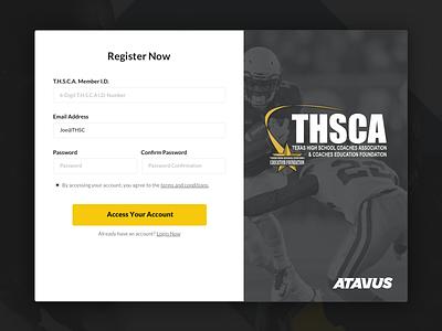 Registration Page football splash sign in registration visual design ux ui