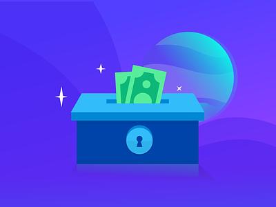 Loot Box 2.0 money vector box loot treasure illustration