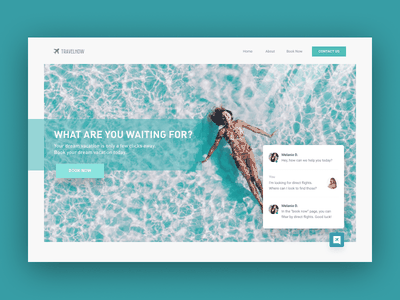 Daily UI 028 - Contact (ChatBot Integration) daily visual front end front-end web design design interface daily ui visual designer travel bot chatbot chat contact dailyui ui ux visual design