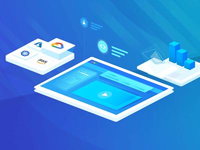 Education in the Cloud branding vector visual design dailyui visual ux design cloud illustration