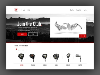 Elite Club Homepage golf web design visual design ux interface dailyui visual design ui