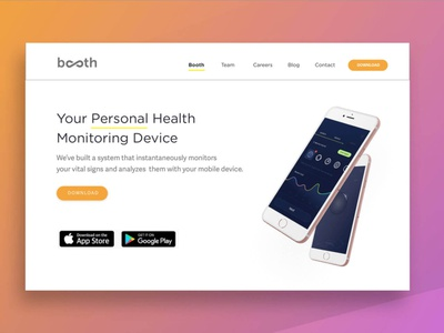 Health Monitoring Device Hero web design interface dailyui design visual designer healthcare branding visual identity uiux ui visual design