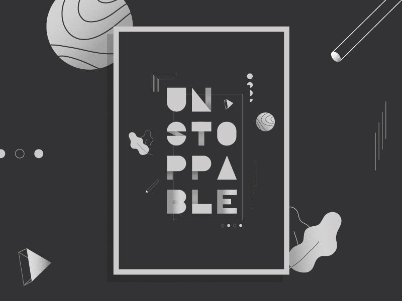Unstoppable illustrator grain poster