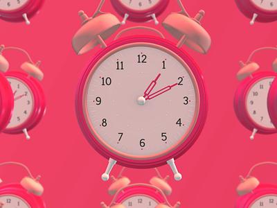 Slit. Drop. Clock. loop design 3d motion design animation