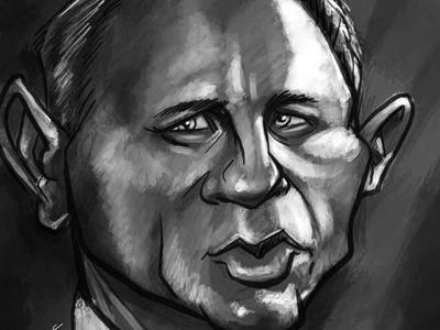 007 caricature digital painting illustration procreate