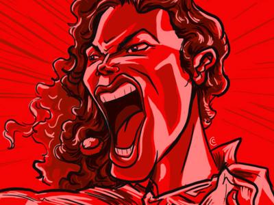 MJ Red famous people procreate ipadpro illustration digital painting