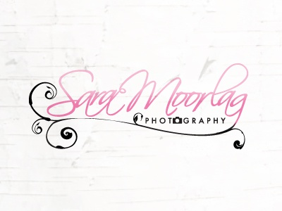 SM Photography identity logo photography typography script