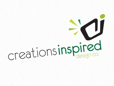 creationsinspired logo identity brand design green modern