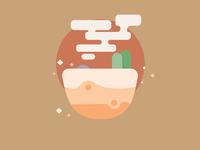 Desert minimal desert design illustration
