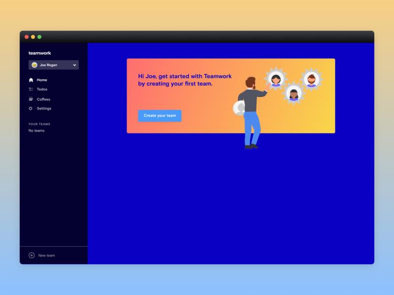 Teamwork App Empty State dashboard emptystate ui product