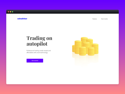 Coinadvisor Landing Page