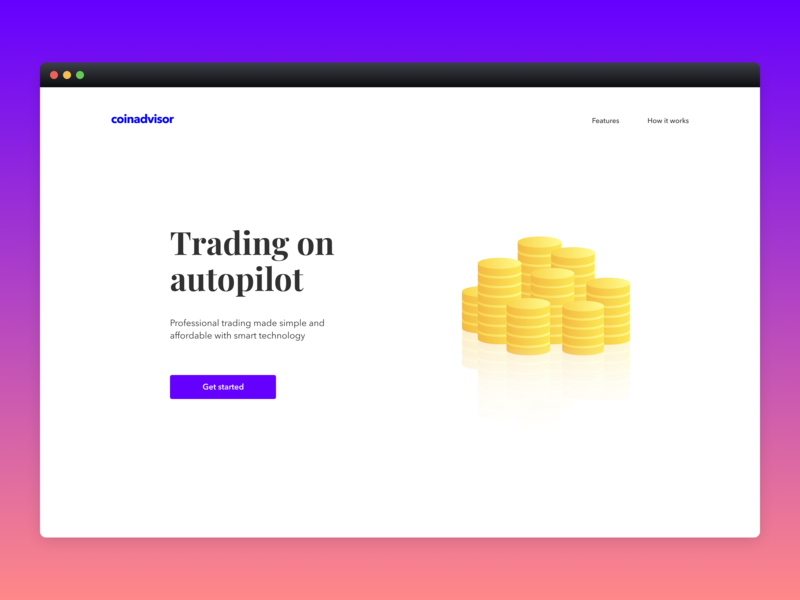 Coinadvisor Landing Page coins website whitespace crypto landingpage