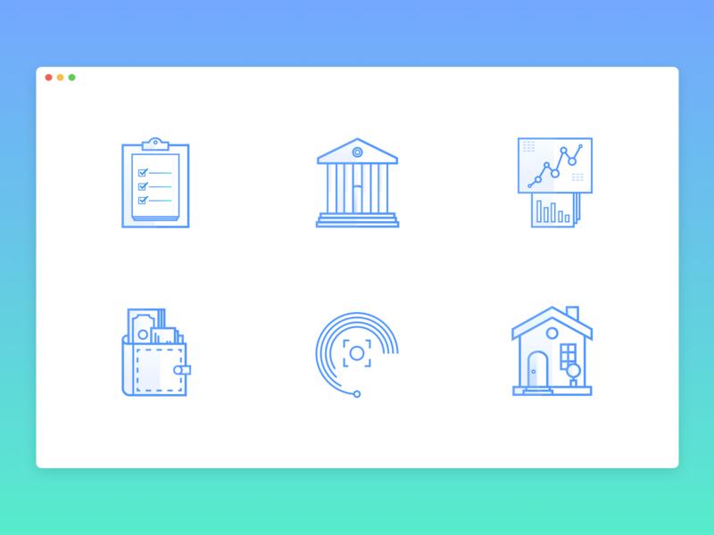 Fintech Icons fintech illustration icons