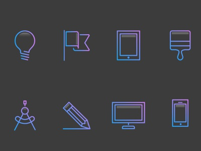 Icon Set icons abstract
