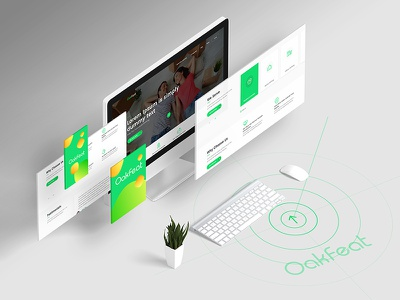Oakfeat branding and design layout website