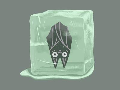 Frozen Bat digital design digital illustration halloween bat character illustration