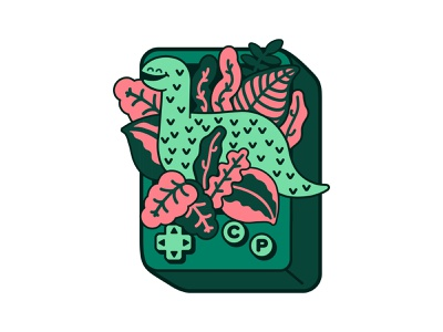 Child's Play Dino Pin design charity work tropical leaves tropical charity dinodna dino dinosaur enamel pins cute illustration