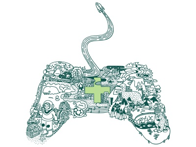 Lift Off vector spaceship character design childrens illustration gamer controller dinosaur dinosaurs space charity work videogames ipad pro design cute illustration