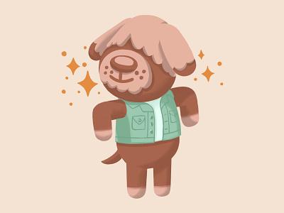 Shep - Animal Crossing New Horizons animal crossing new horizons character procreate ipadpro dog cute fanart illustrations animal illustration