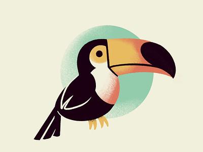 Toucan textured forest bird jungle toucan textures birb adorable ipad pro ipadpro drawing digital illustration cute illustration
