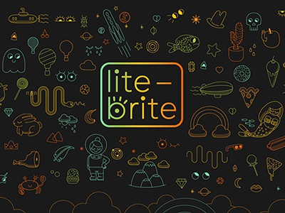 Lite-Brite Unofficial rebrand and website