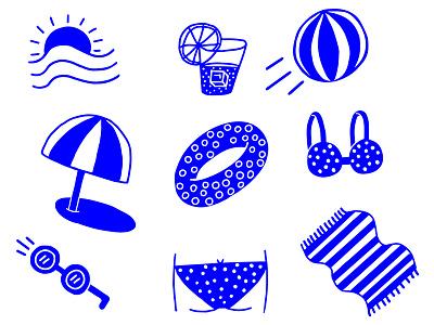 Is it summer yet? summer beach bum sun beach character design ink drawing illustration