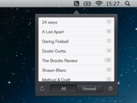 Menubar RSS App