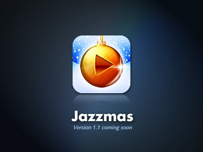 Jazzmas iOS App Icon ios app icon christmas mobile