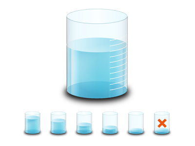Water Measure Icons icon illustration water