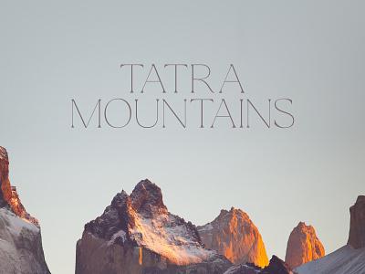 Tatra Mountains identity designer identitydesign identity branding identity design identity logos logodesign logotype logo design logo brand design branding design brand identity branding brand