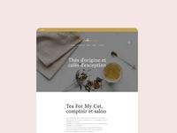 Tea For My Cat Website