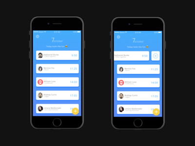 Tasking App task calendar ios iphone principle sketch3 interaction product design mobile ui ux