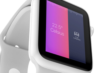 Apple Watch Thermostat apple watch user interface prototype animation ios iphone mobile design ui ux