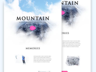 Mountain Web Design WIP landing page winter user experience user interface ux ui web design
