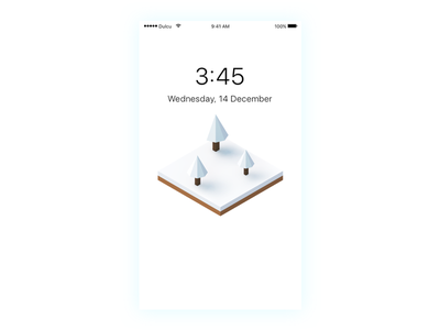 Isometric Winter iPhone Wallpaper low poly user interface ui isometric wallpaper iphone winter freebie free