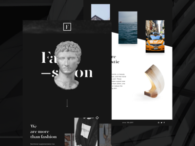 Minimalistic Page - Concept minimal modern fashion design ux web design user interface ui