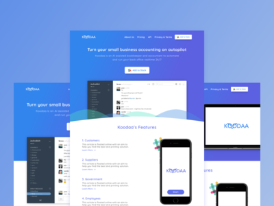 Koodaa Slack Bot - Landing Pages modern bot slack design ux web design user interface ui