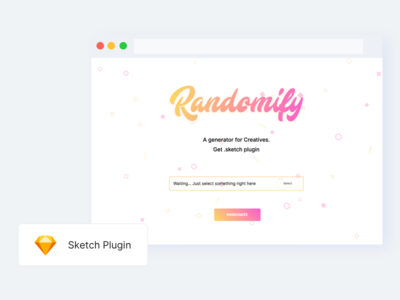 Randomify - Sketch Plugin clean website home page plugin sketch fresh user interface web design ux ui